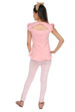 Genius Girls T-shirt With Legging Set , Peach/White - MCGSS218010