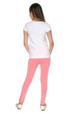 Genius Girls T-shirt With Legging Set , White/Coral - MCGSS218100