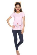 Genius Girls T-shirt With Legging Set , Pink/Navy - MCGSS218130