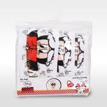 Minnie Mouse Girls 3pc Washable Face Covering , White - TCGLTRHA8844
