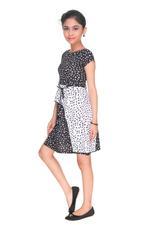 Nexgen Girls Girls Stylish Middy, Black/White-MCG704G