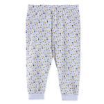 Smart Baby Baby Girls Printed Pant, White-TJGGP03