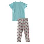 Voov Girls T-shirt With Pajama Set, Sky Blue/Grey - HDGLGPJ29SKYBLUE