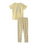 Voov Girls T-shirt With Pajama Set, Yellow - HDGLGPJ31C