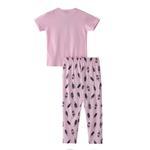 Voov Girls T-shirt With Pajama Set, Light Pink - HDGLGPJ34A
