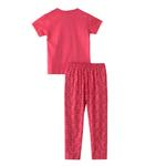 Voov Girls T-shirt With Pajama Set, Dark Pink - HDGLGPJ39A