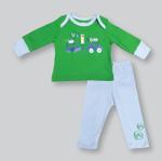Smart Baby Baby Boys T-shirt With Pajama Set,Green/Light Blue-NCGS20PJB2D