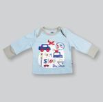 Smart Baby Baby Boys T-shirt With Pajama Set,Light Blue/Grey-NCGS20PJB2E