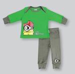 Smart Baby Baby Boys T-shirt With Pajama Set, Green/Dark Grey -NCGS20PJB4C