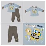 Smart Baby Baby Boys T-shirt With Pajama Set, Light Blue/Grey -NCGS20PJB5E