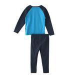 Genius Boys T-shirt With Pajama Set , Blue Green/Navy - HDGLW20B2073