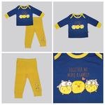 Smart Baby Baby Boys T-shirt With Pajama Set, Navy Blue/Yellow -NCGS20PJB10E