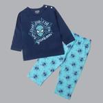 Marvel Baby Boys T-shirt With Pajama Set , Navy/Blue Green - SIMGS20LIB008