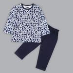 Disney Baby Boys T-shirt With Pajama Set , White/Navy - SIMGS20LIB001