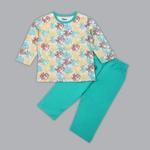 Disney Baby Boys T-shirt With Pajama Set , Multi/Sea Green - SIMGS20LIB010