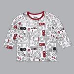 Disney Baby Boys T-shirt With Pajama Set , White/Red - SIMGS20LIB011