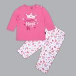Disney Baby Girls T-shirt With Pajama Set , Pink/White - SIMGS20LIG006