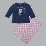 Disney Baby Girls T-shirt With Pajama Set , Navy/Pink - SIMGS20LIG002
