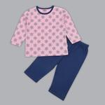 Disney Baby Girls T-shirt With Pajama Set , Pink/Navy - SIMGS20LIG001