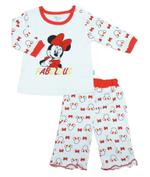 Disney Baby Minnie Baby Girls Pajama Sets, White/Red-NCGDBIBCP11D