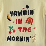 Voov Girls T-shirt With Pajama Set, Light Yellow/White - HDGLGPJ23LYWL