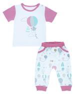 Smart Baby Baby Girls 2pcs Set, White/Pink-NCGSBISU1940