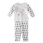 Chiquitos Baby Girls T-Shirt With Pajama Set,White,BAGCGJ504