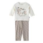 Chiquitos Baby Boys T-Shirt With Pajama Set,White/Beige,BAGCBJ404