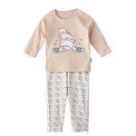Chiquitos Baby Girls T-Shirt With Pajama Set,Cream/White,BAGCGJ501