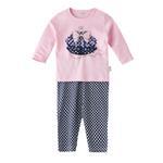 Chiquitos Baby Girls T-Shirt With Pajama Set,Pink/Blue,BAGCGJ505