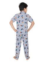 Genius Boys Top With Pyjama Set , Grey Melange - SIMGS21531043