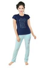 Genius Girls T-shirt With Pajama Set , Navy/Sky - SNGSS2137477