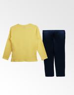 Disney Princess Girls T-shirt With Pyjama Set , Yellow/Navy - TCGLAW2011926