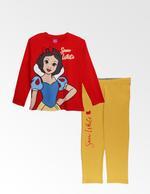 Disney Princess Girls T-shirt With Pyjama Set , Red/Mustard - TCGLAW2011928