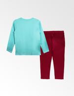 Jojo Siwa Girls T-shirt With Pyjama Set , Mint/Fuschia - TCGLAW2011932