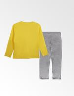 Looney Tunes Girls T-shirt With Pyjama Set , Yellow/Grey Millange - TCGLAW2011931