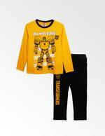 Transformers Boys T-shirt With Pyjama Set , Yellow/Black - TCGLAW2011944