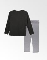 Mickey Mouse Boys T-shirt With Pyjama Set , Dark Grey/Grey - TCGLAW2011946