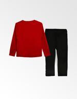 Justice League Boys T-shirt With Pyjama Set , Red/Black - TCGLAW2011947