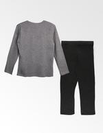 Avengers Boys T-shirt With Pyjama Set , Grey Millange/Dark Grey - TCGLAW2011951