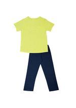 Carfield Girls T-Shirt With Pajama Set,Yellow/Charcoal-HWGLS21GS18B