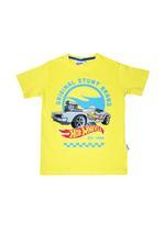 Hot Wheel Boys T-Shirt With Pajama Set,Yellow/Blue - HWGLS21TNHW1A