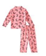 Genius Boys Top With Pyjama Set , Peach - SIMGS21521037