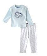 Smart Baby Baby Boys T-Shirt With Pyjama Set,Light Sky Blue/White-BIGSS21SB418
