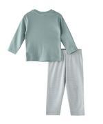 Smart Baby Baby Boys T-Shirt With Pyjama Set,Sage Green/White-BIGSS21SB420