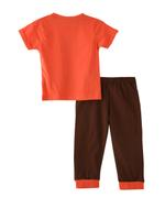 Smart Baby Baby Boys T-shirt With Pajama Set ,Orange/Cocoa- SNGSS2137692