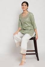 Biba Women Art Silk Palazzo,Off White,BG16122OWT/M