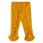 Nexgen Girls Girl Solid Ruffle Pants,Mustard - KFGS201539CL2