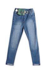 Little Kangaroos Girls Denim Full Pant,Light Blue -ROGS2019562B