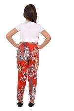 Flower Girl Girls Printed Pants,Red/Multi - KFGS201538P4